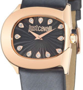 JUST CAVALLI BELT LADY - SS ROSE GOLD PLATED CASE - LEATHER STRAP - BLACK DIAL - QUARTZ   - ONLY TIME - MINERAL GLASS - 37mm - 3atm - 7251525503