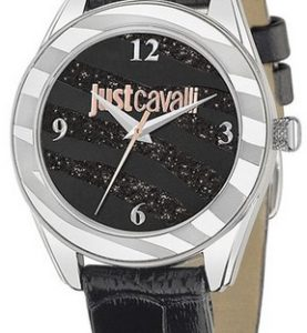 JUST CAVALLI JUST STYLE LADY - SS CASE - LEATHER STRAP - BLACK DIAL - QUARTZ   - ONLY TIME - MINERAL GLASS - 37mm - 3atm - 7251594502