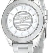 JUST CAVALLI JUST DREAM LADY - SS CASE - RUBBER STRAP - WHITE DIAL - QUARTZ   - ONLY TIME - MINERAL GLASS - 37mm - 3atm - 7251602510
