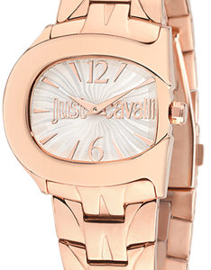 JUST CAVALLI BELT LADY - SS CASE - SS ROSE GOLD PLATED STRAP - WHITE DIAL - QUART - ONLY TIME - MINERAL GLASS - 37mm - 3atm - 7253525504