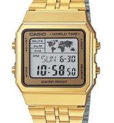 CASIO A-500WGA-9 Vintage World Time Alarm Map Display - A-500WGA-9
