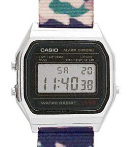 CASIO A158W NATO CAMOUFLAGEGREEN ARMY Timer. Alarm. WR 30 - A158W-NATO_A