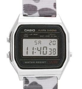 CASIO A158W NATO CAMOUFLAGEWHITE ALPINE Timer. Alarm. WR 31 - A158W-NATO_B