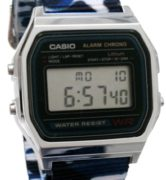 CASIO A158W_B1 NATO CAMOUFLAGE BLUE NAVY Timer. Alarm. WR 31 - A158W-NATO_B1