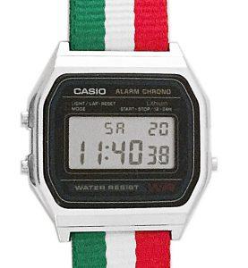 CASIO A158W NATO STRIPESITA Timer. Alarm. WR 31 - A158W-NATO_D