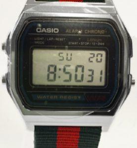CASIO A158W NATO GG STRAP Timer. Alarm. WR 30 - A158W-NATO_GG