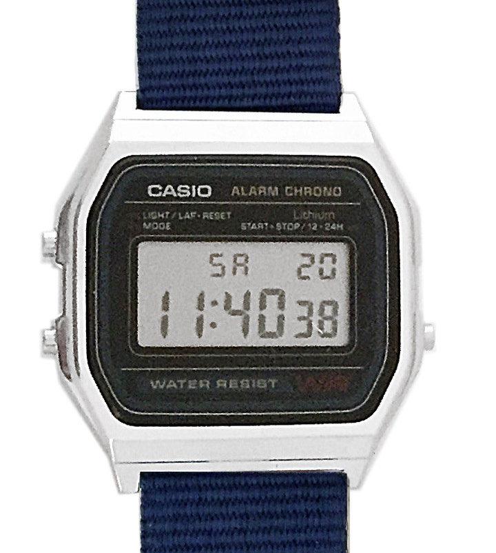 CASIO A158W NATO KHAKI AVIO Timer. Alarm