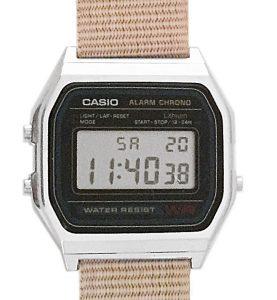 CASIO A158W NATO KHAKI DESERTimer. Alarm. wr 32 - A158W-NATO_M