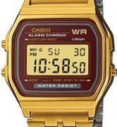 CASIO A159WGEA-5D Vintage Chrono, Timer, Alarm, wr 30 - A159WGEA-5D