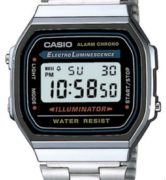CASIO A168WA-1A Vintage Chrono, Electrolumin, Timer, Alarm, wr 30  - A168WA-1A