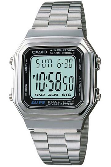 CASIO A178WA-1A Vintage DUAL TIME wr 30 – A178WA-1A 1