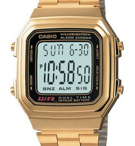 CASIO A178WG-1A Vintage DUAL TIME wr 30 - A178WG-1A