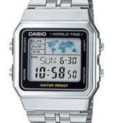 CASIO A-500WA-1 Vintage World Time Alarm Map Display - A500WA-1