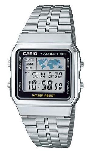 CASIO A-500WA-1 Vintage World Time Alarm Map Display – A500WA-1 1