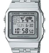 CASIO A-500WA-7 Vintage World Time Alarm Map Display - A500WA-7