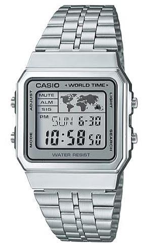 CASIO A-500WA-7 Vintage World Time Alarm Map Display – A500WA-7 1