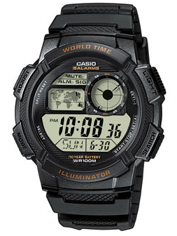 CASIO AE-1000W-1A Date&Date, wr 100, chrono, timer – AE-1000W-1A 1
