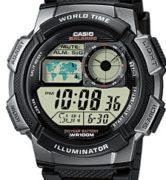 CASIO AE-1000W-1B Digital, Date&Date, wr 100, chrono, timer - AE-1000W-1B