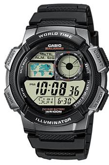 CASIO AE-1000W-1B Digital, Date&Date, wr 100, chrono, timer – AE-1000W-1B 1