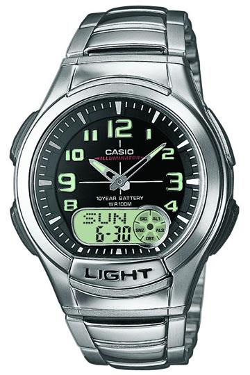 CASIO AQ-180WD-1B Dual Time, Date&Day, Chrono, Alarm, Timer, wr 100 – AQ-180WD-1B 1