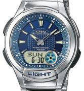 CASIO AQ-180WD-2A Dual Time, Date&Day, Chrono, Alarm, Timer, wr 100 - AQ-180WD-2A