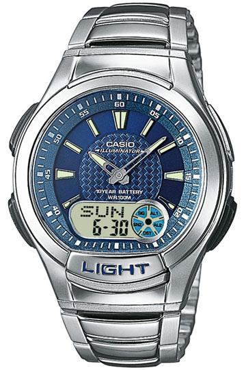 CASIO AQ-180WD-2A Dual Time, Date&Day, Chrono, Alarm, Timer, wr 100 – AQ-180WD-2A 1