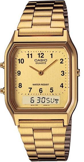 CASIO  AQ-230GA-9B DUAL TIME Gold Vintage – AQ-230GA-9B 1