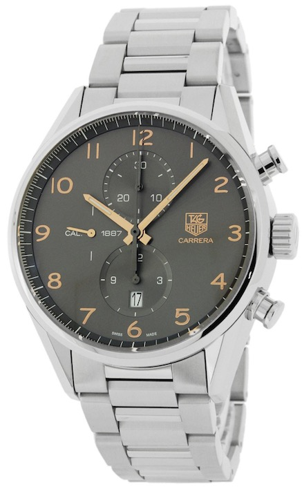 TAG HEUER CARRERA CAL 1887 CH 43MM INDICI ORO ROSA 18 KT ANTHRACITE DIAL AUTOMATICO - CAR2013-BA0799