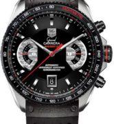 TAG HEUER GRAND CARRERA BLACK CRONO CAL 17 STEEL & TITANIUM - CAV511C-FT6016