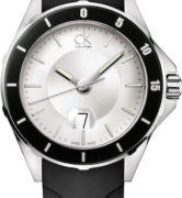 CK CALVIN KLEIN WATCH PLAY LADY - SS CASE - LEATHER STRAP - QUARTZ   -  TIME - DATA - MINERAL GLASS - 36mm - 3atm - CK2W21XD6