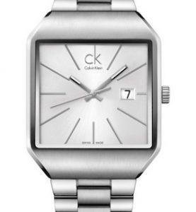 CK CALVIN KLEIN WATCH GENTLE BR/GT SS/BR BRACELET SILVER DIAL - CK3L31166
