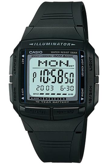 CASIO DB-36-1A  DATABANK Digit, Chrono, Alarm, Timer, wr 30 – DB-36-1A 1