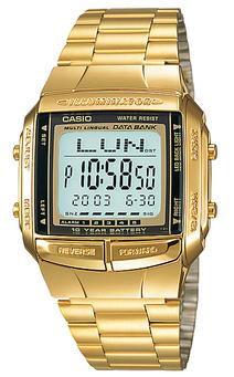 CASIO DB-360G-9A DATABANK Vintage Chrono, Alarm, Timer, wr 30 - DB-360G-9A