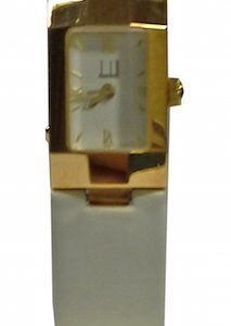 DUNHILL BABY FACET YELLOW GOLD TISSUE STRAP - DQ1995Z