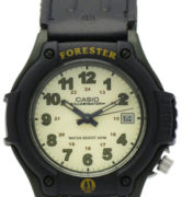 CASIO FORESTER FT-500WV-3 KHAKI ARMY GREEN leather+cordura data. wr 100mt, - FT-500WV-3
