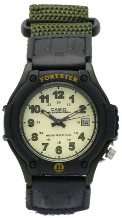 CASIO FORESTER FT-500WV-3 KHAKI ARMY GREEN leather+cordura data