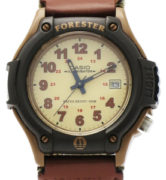 CASIO FORESTER FT-500WV-5 KHAKI SAND leather+cordura data. wr 100mt - FT-500WV-5