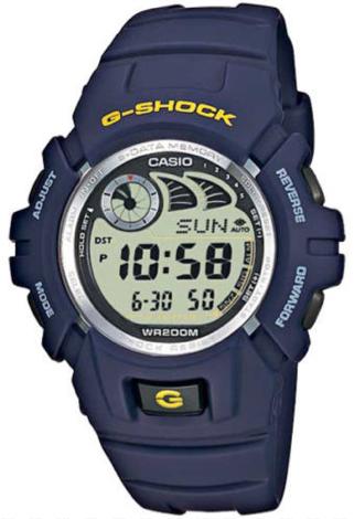 CASIO G-SHOCK G-2900F-2V Shock resistant. e-data memory. world time. autocalendar