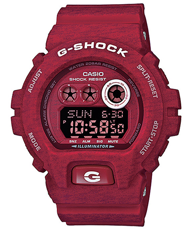CASIO G-SHOCK GD-X6900HT-1ER RED Chrono. Resin Case & Strap. Super Auto led. Yacht Timer. 3 alarms. Snooze. Automatic calendar