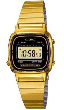 CASIO LA-670WG-1 Vintage Chrono, Alarm, Timer, wr 30 - LA-670WG-1