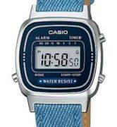 CASIO LA-670WL-2A2 DENIM JEANS Strap. Chrono. Alarm. Timer. wr 30 - LA-670WL-2A2