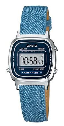 CASIO LA-670WL-2A2 DENIM JEANS Strap. Chrono. Alarm. Timer
