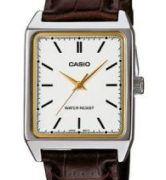 CASIO  LTP-V007L-7 -  Quartz. Date.  Leather strap - LTP-V007L-7