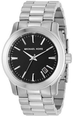 MICHEAL KORS SILVER AND BLACK - MK7052
