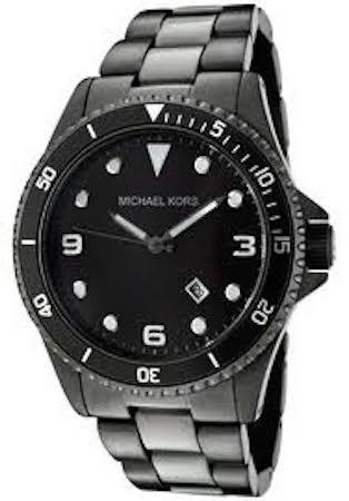 MICHAEL KORS MK7057 Black Ion Plated S/S Diver - MK7057