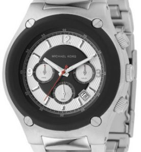 MICHAEL KORS SILVER AND BLACK - MK8101