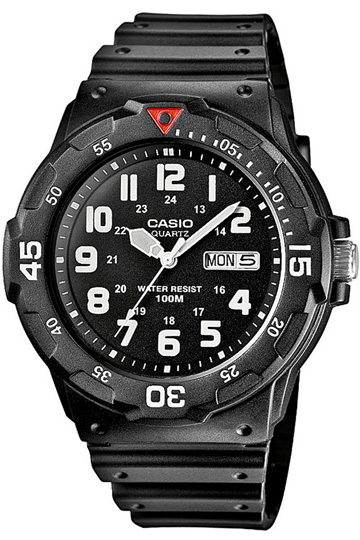 CASIO MRW-200H-1B  Date&day, Dual Time, wr 100 - MRW-200H-1B