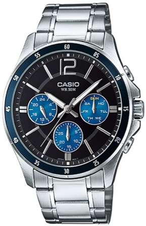 CASIO MTP-1374D-2A Multinfunction. 3 counters. wr 50 - MTP-1374D-2A