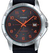 CASIO  MTP-V008B-1 -  Quartz. Date. Nato strap - MTP-V008B-1