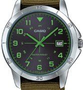 CASIO  MTP-V008B-3 -  Quartz. Date. Nato strap - MTP-V008B-3